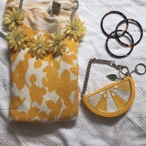 Coach lemon wedge Wristlet Change Purse